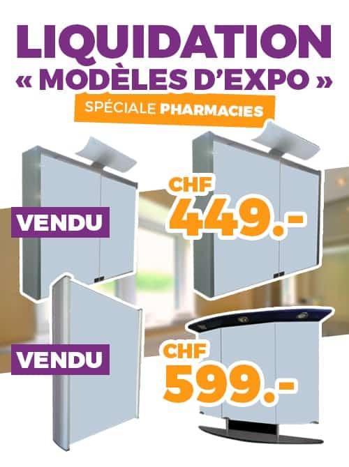 ok chez vous promos liquidation modele expo pharmacie