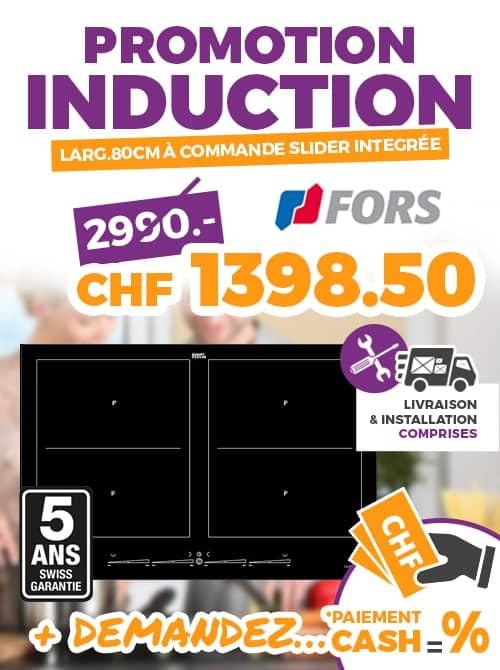 ok chez vous promo FORS PLAN INDUCTION TIFS 844 ES 76CM CADRE INOX