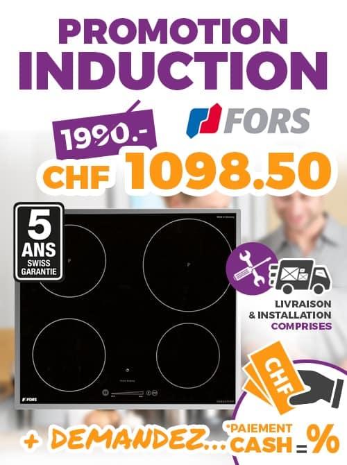ok chez vous promo FORS PLAN INDUCTION TIST604 ES 60CM CADRE INOX