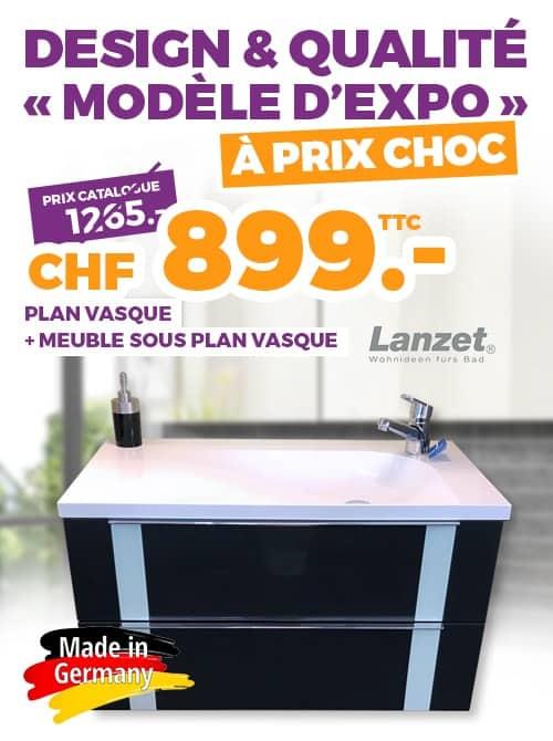 Plan vasque et meuble sous plan marque lanzet ok chez vous - Modele d exposition electromenager ...