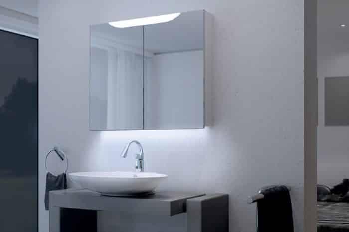 Miroir armoire toilette Keller 4