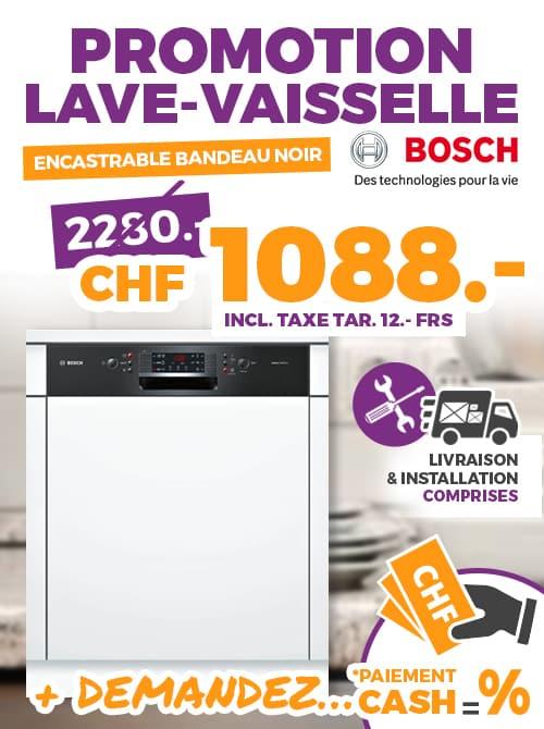 nouveau concept 456da f5642 Lave vaisselle BOSH noir et blanc 60cm | Ok Chez Vous